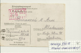 PSTALAG XVII B , Krems-Gneixendorf ,Vordruckbrief Nach Serbien 1943 - Besetzungen 1938-45