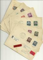 Bes. Luxemburg, 6 Einschreiben Ex Mi 1-15  (Mi 7 Und 10 Fehlen) - Besetzungen 1938-45