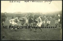 RUGBY 4 CP PHOTOS INÉDITES ASC CARCASSONNE VS CAB BEGLES A CARCA SAISON 1924 1925 -15/02/1925 (55 56 SN 58) - Rugby