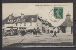 19 - Lubersac (corrèze) - La Place Et L'Avenue De La Gare - Belle Animation, Café Laporte - Autres Communes