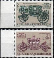 AUTRICHE AUSTRIA ÖSTERREICH Poste 1237 à 1238 ** MNH Landau Couronnement Carrosse Impérial Véhicule Autrichien - 1945-.... 2nd Republic