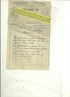 62 - Pas-de-calais - LAVENTIE - Facture PLATEY-BAL - Menuiserie-ébénisterie – 1943 - 1800 – 1899