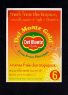 # PINEAPPLE DEL MONTE SIZE 6 Fruit Tag Balise Etiqueta Anhanger Costa Rica Ananas Pina - Fruits & Vegetables