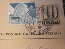 29/10/1958 Entiers Postaux + Timbre Rajouté La Chaux-de-Fonds Suisse Helvetia Pour Rosières S Mauce Par Vitry-sur-Marne - Interi Postali