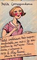 CPA ILLUSTRATION ILLUSTRATEUR HUMOUR PETITE ANNONCE FEMME RECHERCHE HOMME RICHE - Illustrators & Photographers