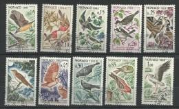 """Monaco YT 581 à 590 """" Protection Des Oiseaux Utiles Série """"  1962 1er Jour - Monaco"""