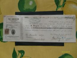 FINANZA 1.4.1870 Mandato Pagamento THE GRESHAM Life Assurance Society Compagnia Inglese - Azioni & Titoli