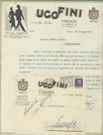 MODA UGO FINI FIRENZE LANERIE E SETERIE - LETTERA + BUSTA CON LOGO PUBBLICITARIO - 1931 - Italia
