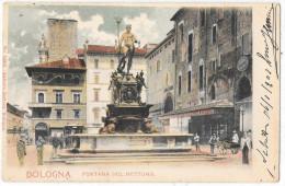 EMILIA ROMAGNA-BOLOGNA-BOLOGNA VEDUTA FONTANA DEL NETTUNO FINE ANNI 800 - Bologna