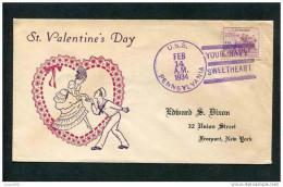 USA 1934 COVER ART CELEBRATIONS ST. VALENTINE DAY. CANCEL PENNSYLVANIA - Carnival
