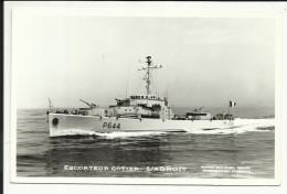 """Escorteur Côtier """" L' ADROIT """" , Carte Photo - Warships"""