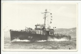 "Escorteur "" CIMETERRE "" , Carte Photo ANIMEE - Warships"