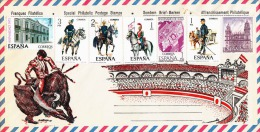 SPANIEN 1977, Sehr Schöne 7 Fach Sondermarken Fankierung Auf Schmuck-Brief, Postfrisch ** - 1931-Heute: 2. Rep. - ... Juan Carlos I