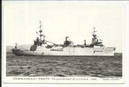 """"""" COMMANDANT TESTE """" Transport D' Avions 1934 , Carte Photo - Guerre"""