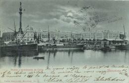 RARE BARCELONA  AVEC CACHET COLLECTIONNEUR A.P.N.  N°1000  ELISA CALVET CASPE 52 PUERTO Y MONUMENTO COLON - Barcelona