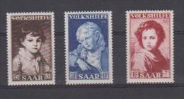 SARRE  //   Série Volkshilfe   //  N 316-318  //  Neuf**  //  Côte 18€ - Saar