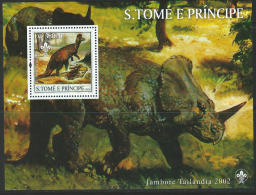 St. Thomas 2003 SC 1510-1512 MNH Scouting Cats Dogs Dinosaurs Minerals - Sao Tome And Principe
