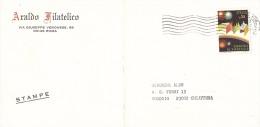 1973 £25 CARNEVALE DI VIAREGGIO ISOLATO SU STAMPE BUSTA ARALDO FILATELICO ROMA - 6. 1946-.. Repubblica