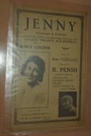 "PARTITION   MUSICALES  ANCIENNES.. "" JENNY ""  CHANSON  A  REFRAIN.. JENNY  GOLDER...NAZELLES... R. PENSO - Spartiti"