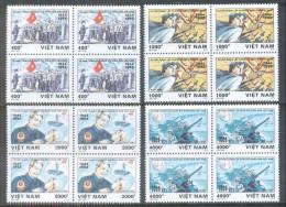 Blocks 4 Of Vietnam Viet Nam MNH Perf Stamps 1994 : 50th Anniversary Of Vietnamese People's Army (Ms697) - Vietnam
