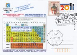 CHEMISTRY, INTERNATIONAL YEAR, MENDELEEV TABLE, SPECIAL POSTCARD, 2011, ROMANIA - Chemie
