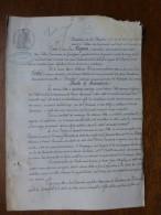 17 Grandjean 1870 Procès Tapon Vs Février Et Louis Cotte, Buraliste à Rochefort,  ;ref 577 - Documenti Storici