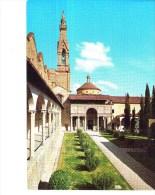 Cartoline-chiese-chiostro Di Santa Croce-firenze - Chiese E Conventi