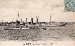 """(25)    34 BREST - Le Croiseur """" Châteaurenault """" - Guerre"""