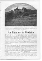 CORSE - AU PAYS DE LA VENDETTA -  Extrait D´une Revue De 1903 - Vieux Papiers