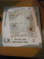 SUPPLEMENT DAVO BELGIQUE 2006 LX 2. - Album & Raccoglitori