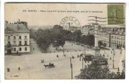 CPSM NANTES (Loire Atlantique) - Place Louis XVI Et Cours Saint André - Nantes