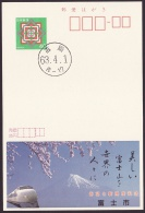 Japan Advertising Postcard, Mt.Fuji, Shinkansen, Fuji City, (jad1005) - Postcards