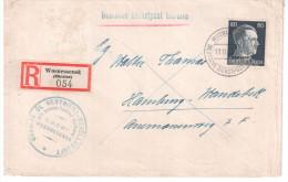 UKRAINE LETTRE RECOMMANDEE 1943 AVEC CACHET DEUTSCHE DIENSPOST UKRAINE - Occupazione 1938 – 45