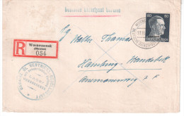 UKRAINE LETTRE RECOMMANDEE 1943 AVEC CACHET DEUTSCHE DIENSPOST UKRAINE - Occupation 1938-45