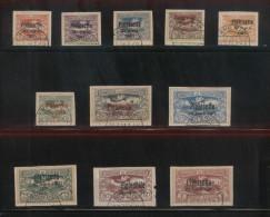 POLAND HAUTE SILESIE PLEBISCITE UPPER SILESIA 1921 OVERPRINT SERIES OF 11 USED - ....-1919 Provisional Government
