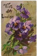 Vive Sainte LOUISE - Magnifique Bouquet De Violettes - CPA - Illustrateur S.BEVILACQUA - Voyagé - Illustratori & Fotografie