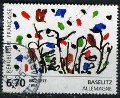 FRANCE 2914°  6,70f  Multicolore Oeuvre Originale De Greorg Baselitz (10% De La Cote + 0,15€) - Frankreich