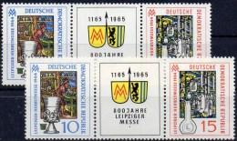 Messe Leipzig 1964 DDR 1052/3 ZD+ W141 Mit 1053 VIII ** 23€ Strebe Am Regal Gebrochen Error On The Stamp Fair Of Germany - [6] Democratic Republic
