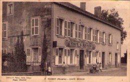57: TOP Rare Cpa  MAGNY  Le Café Beker Animé++ Edit BEKER Tabacs Cafe - Francia