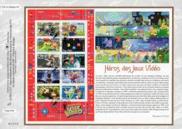 """Feuillet CEF 1° Jour N°té De 2005 N° 1799 """" HEROS DES JEUX VIDEO : LARA CROFT SIMS MARIO..."""" N° YT BF 91. Parfait état ! - FDC"""