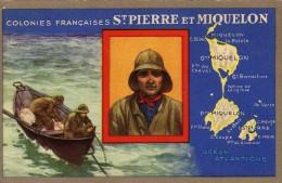 Saint Pierre Et Miquelon Colonies Françaises Carte D époque Véritable Et Originale DOM TOM - Saint-Pierre-et-Miquelon