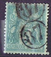 Oblitération Du Jour De L'An  - Cachet De Facteur 87  Double Frappe - 1876-1898 Sage (Type II)