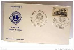 ASIAGO  ANNULLO SPECIALE CHARTERNIGHT  - LIONS CLUB DI ASIAGO - 19.05.1971 - QUALITA´ LUSSO - 6. 1946-.. Repubblica