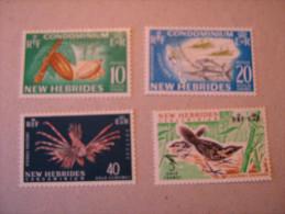 1965   NOUVELLES  HEBRIDES  P 219/222  * *  SERIE COURANTE LEGENDE ANGLAISE - Nuevos