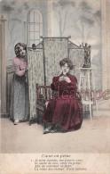 CPA Lot De 6 Cartes - Série COEUR EN PEINE - Chagrin D'amour - Que Va Conter La Marguerite, Toujours Ou Jamais ? Rupture - Couples