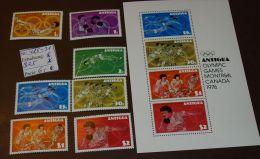 Antigua  Olympia  Block  25  425-31  ** Postfrisch MNH  #3677 - Antigua Und Barbuda (1981-...)