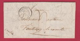 LETTRE   //   De Angers //  Pour Fontenay Le Comte  //  24 Janv 1842 - Postmark Collection (Covers)