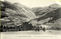 Cpa Vue Générale  Sur Grand Bornand - St Jean De Sixt - LL - Frankrijk