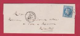 LETTRE   //   De Commercy  //  Pour Pont à Mousson   //  7 Nov 1869 - 1849-1876: Classic Period