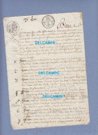 Billet De Partage Ancien - TRANCAULT ( Aube ) - Fait Entre Un Sabotier Et Un Manouvrier -  Années 1860 - Cachets Généralité